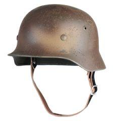 German M35 Helmet 3-Colour Camo Battleworn - 56/57 cm