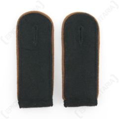Waffen SS EM Shoulder Boards (Copper Brown piped)