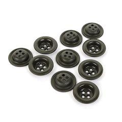 Original German 18mm Dish Buttons - Field Grey