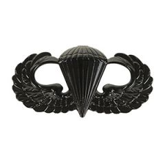 US Paratrooper Wing Badge - Black