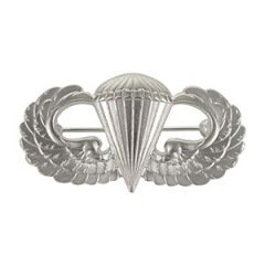 US Paratrooper Wing Badge - Silver