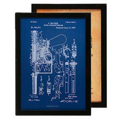 German Mauser Pistol Framed Blueprint