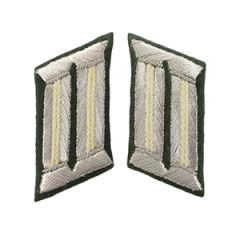 German Officer Collar Tabs (White) - Imperfect