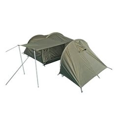 Two Person Tent with Storage Space - Olive Green