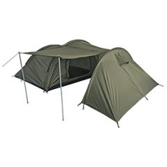 Four Person Tent with Storage Space - Olive Green