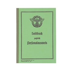 WW2 German Police Schupo Soldbuch