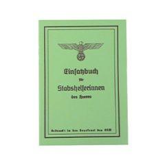 WW2 German Stabshelferin Des Heeres Soldbuch