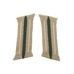 WW2 German Pre-Made Infantry Bevo Litzen Collar Tabs - White