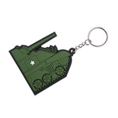 WW2 PVC 3D Keychain - Sherman Tank