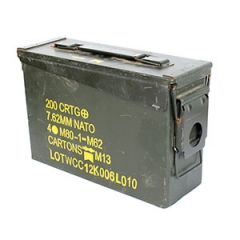 Original US Army 200 Cartridge .30 Cal Ammo Can Thumbnail