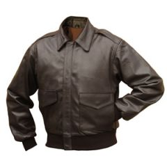 Brown Leather US Pilots A2 Jacket Repro Thumbnail