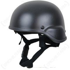 US MICH Helmet - Black 2