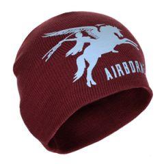 Airborne Pegasus Beanie Hat - Maroon