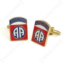 Pair of American 82nd Airborne Division Cufflinks facing left