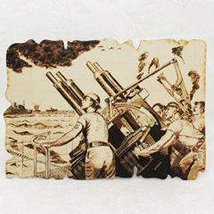 Anti-Aircraft Woodburning Artwork Thumbnail