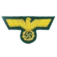German Army General Bullion Cap Eagle - Thumbnail