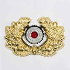 Army Metal Wreath and Cockade - Gold - Thumbnail