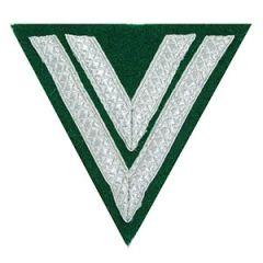 Army Obergefreiter Rank Chevron - Silver/Green