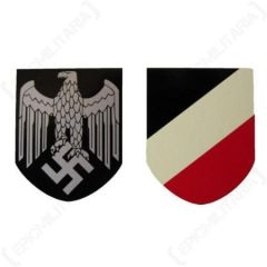 Army Helmet Decal Eagle and Shield