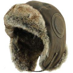 Aviator Leather and Fur Ushanka Thumbnail