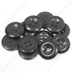 Small Black Buttons