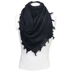 Black Cotton Shemagh - Thumbnail