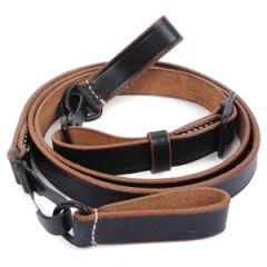 Black Leather Cross Strap - Army Thumbnail