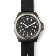 Black Stainless Steel US Army Style Watch