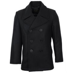 Black US Navy Pea Coat