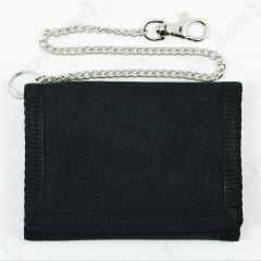 Black Wallet with Security Chain