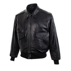 Black Leather US Pilots A2 Jacket - Repro Thumbnail
