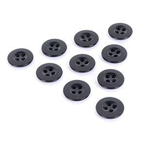 Black Vintage Buttons - Type 4 - 1.4 cm Thumbnail