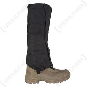 Gaiters with Steel Wire Fixing - Black