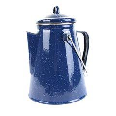 Blue Enamel Coffee Pot