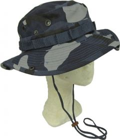 Sky Blue Camo Bush Hat