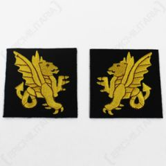 British 43rd Wessex Infantry Division Patches - Imperfect Thumbnail