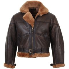 British Fighter Pilot Leather Jacket Thumbnail