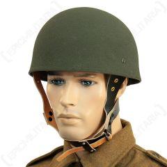 WW2 British Paratrooper Helmet Worn