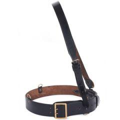 British Sam Browne Leather Belt - Black Thumbnail