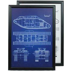 British MkV Tank Framed Patent Print Thumbnail