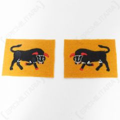 British 11th Armoured Infantry Division Patches - White Stitching Front