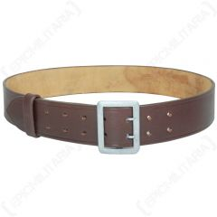 Brown Army Officer Belt with Claw Buckle