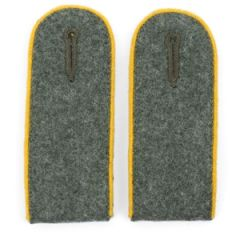 Cavalry EM Shoulder Boards Field Grey (Gold Yellow piped) Thumbnail
