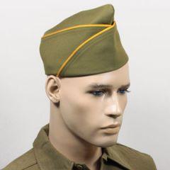 WW2 US PX Type Garrison Cap - Gold Yellow Piped Thumbnail