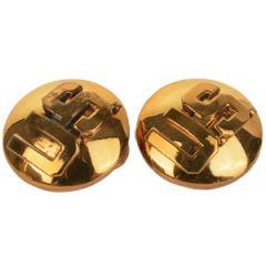 WW2 US Monogram Collar Discs -  Domed