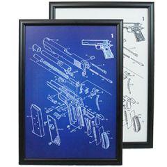 US Colt 1911 Pistol Framed Patent Print Thumbnail