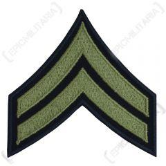 Dark blue Corporal Stripes Badge with Olive detail