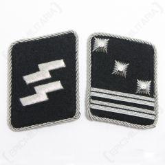 WW2 German Waffen-SS Hauptsturmfuhrer Collar Tabs