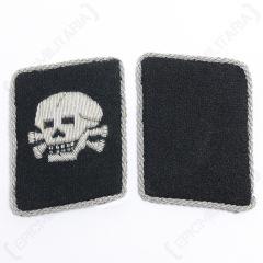 WW2 German Totenkopf Officers Collar Tabs
