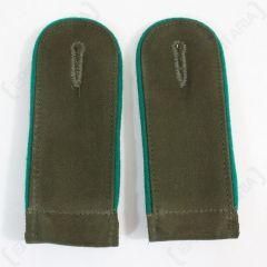 DAK Afrika Korps EM Shoulder Boards - Dark Green - Imperfect Front